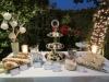 Dessert Table with Floral Dessert Cards