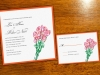 Sketched Rose Bouquet Wedding Invitation and RSVP