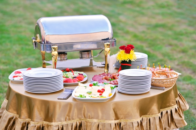 Food Stations At A Wedding Reception