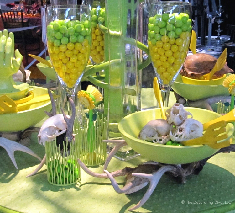 Lime Green And Yellow Tablescape All In The Invite